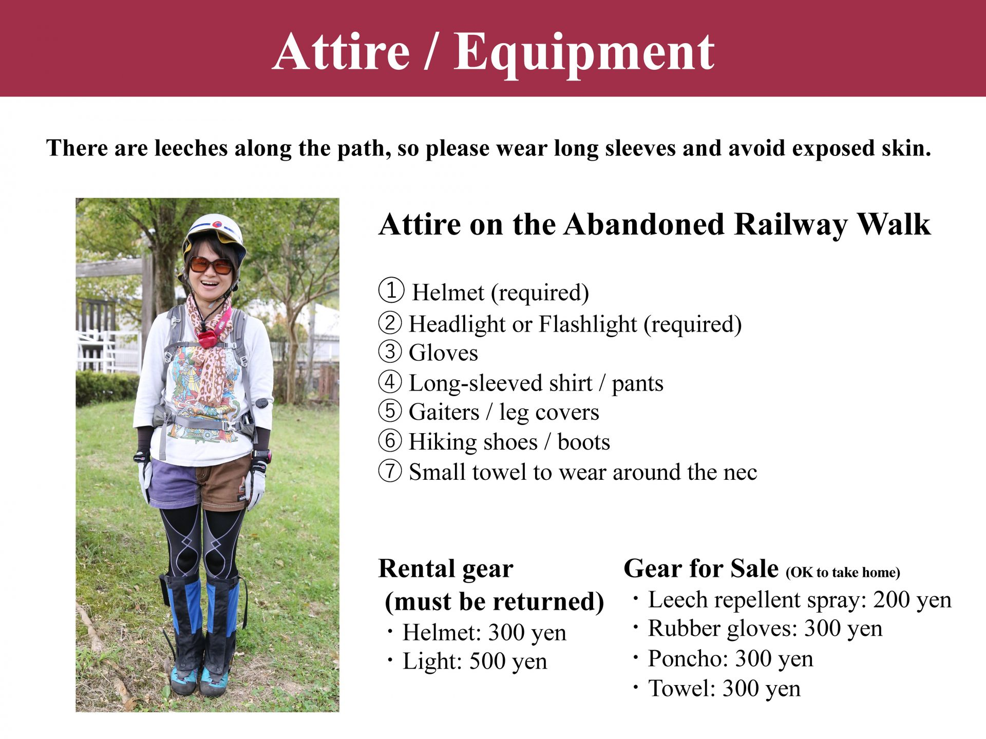 Attire - Equipment